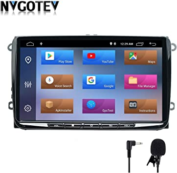 Android 9.0 Autoradio 2GB RAM 32GB ROM 9 Pulgadas Estéreo para Auto para VW Volkswagen Golf Polo navegación GPS Radio Am/FM/RDS/SWC/DSP/Cámara Trasera