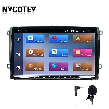 Android 9.0 Autoradio 2GB RAM 32GB ROM 9 Pulgadas Estéreo para Auto para VW Volkswagen Golf Polo navegación GPS Radio Am/FM/RDS/SWC/DSP