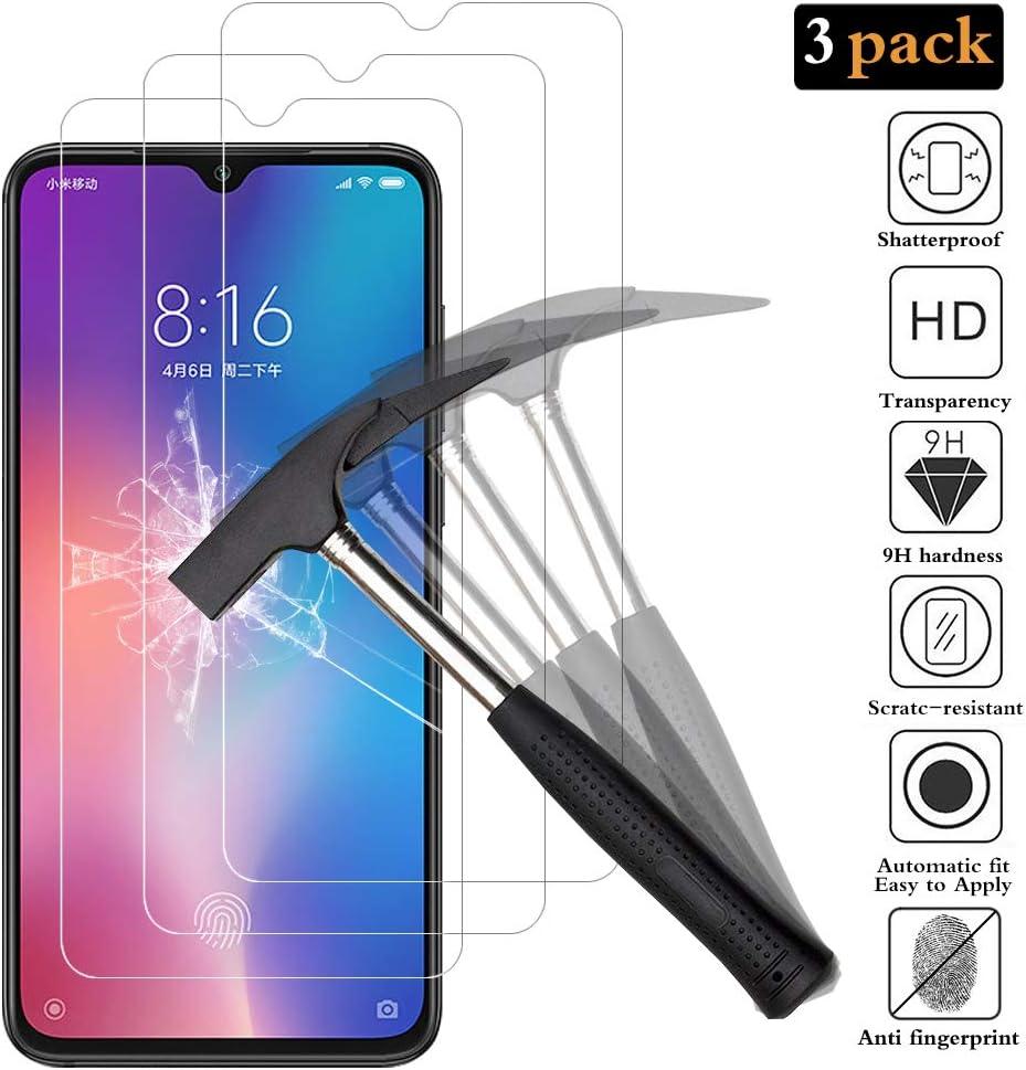 ANEWSIR Protector de Pantalla para Xiaomi Mi 9, Xiaomi Mi 9 Cristal Templado, [3 Pack] [9H Dureza] [Ultra-transparente] [Sin Burbujas] [Resistente a Arañazos] Vidrio Templado Screen Protector Xiaomi 9