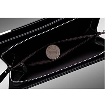 Money Clip-Mens negro Money Clip Wallet Slim Leath Billetera ...