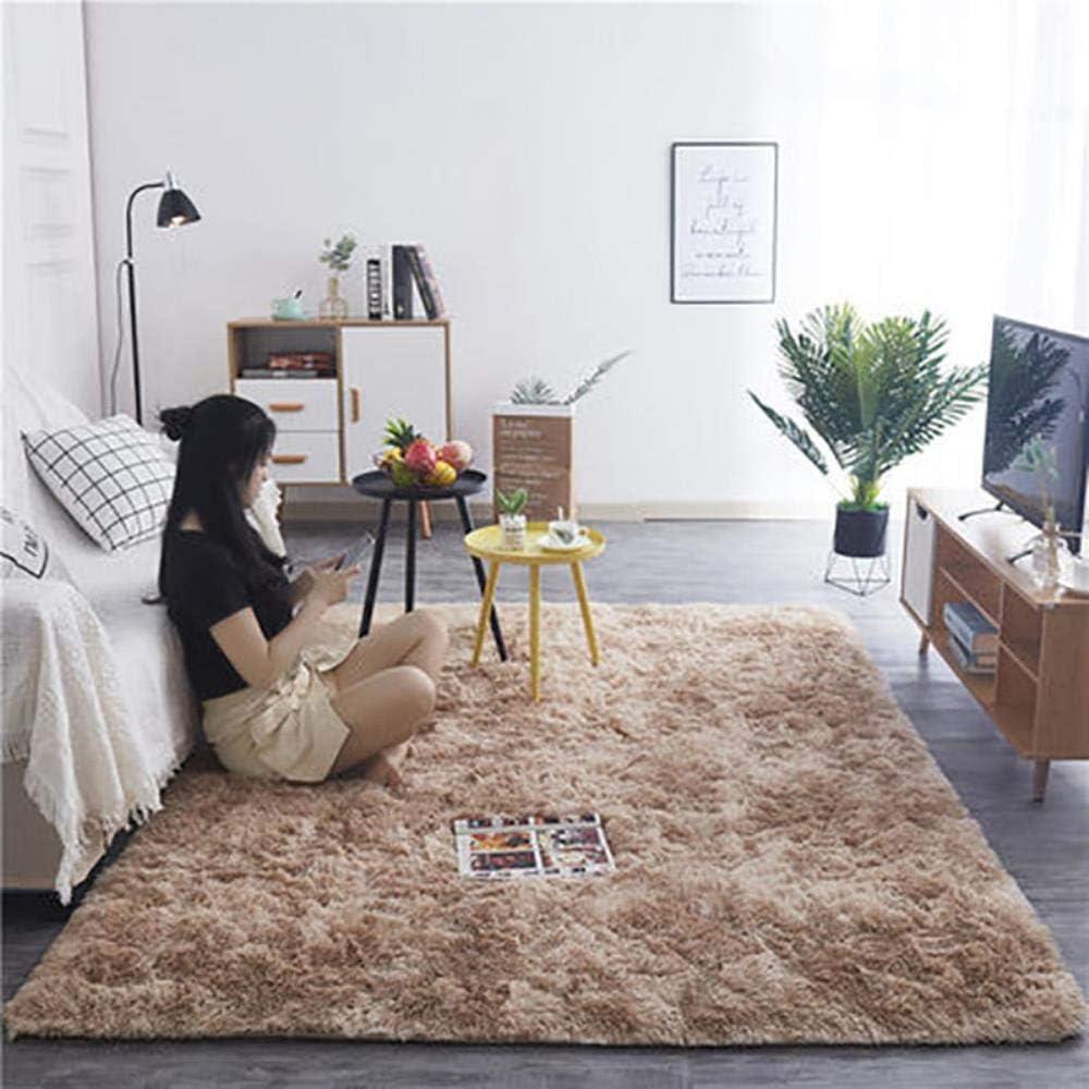 Zzxx Carpet for Living Room Home Warm Plush Floor Rugs Fluffy Mats,Beige,40cmx60cm