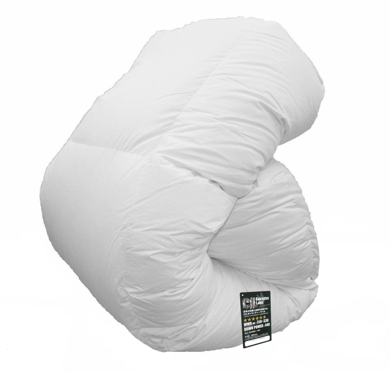 大増量タイプ ハンガリー産ホワイトマザーグースダウン95% ツインキルト羽毛布団