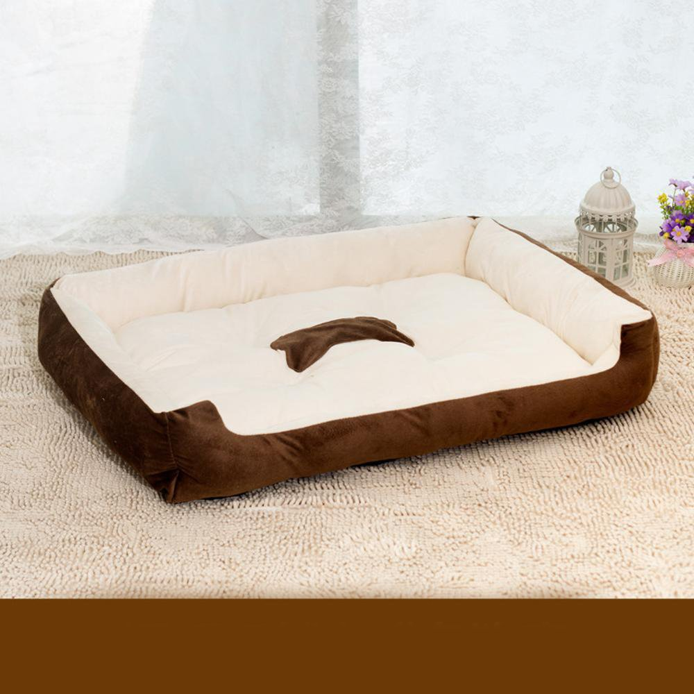A 5040cm A 5040cm Dixinla Pet Bed Short Plush Large Canine Kennel