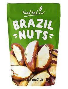 Brazil Nuts, 2 Pounds - Raw, No Shell, Kosher