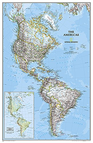 (The Americas - North & South America Political Map)