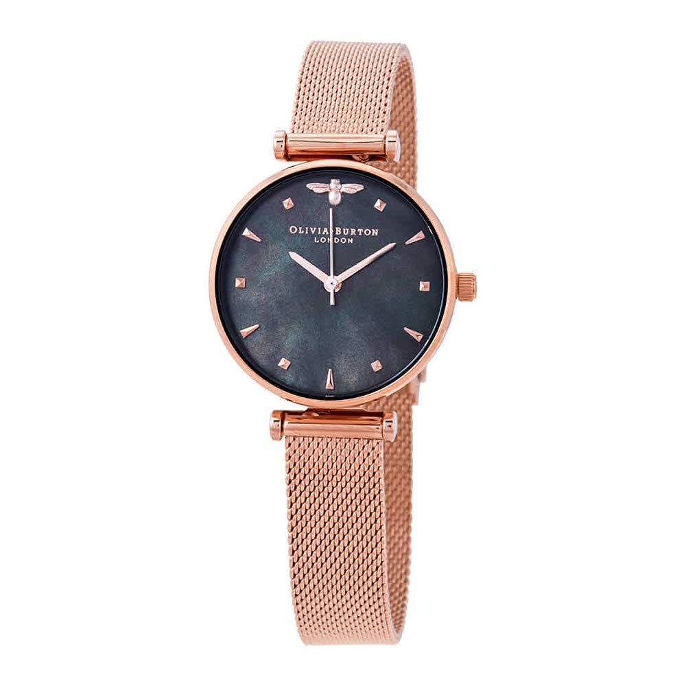 Amazon.com  Olivia Burton Queen Bee Mother of Pearl Dial Ladies Watch  OB16AM145  Watches 04baeeffde