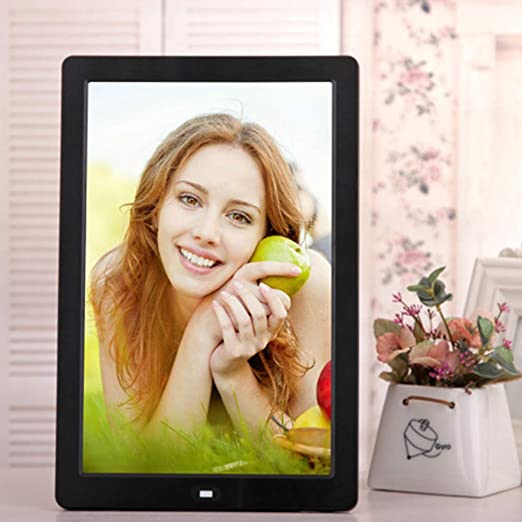 TONGTONG 8 inch HD Digital Photo Frame MP3 MP4 Movie Player Photo Frames Photo Digital Photo Frames for Family Friend Gift,White