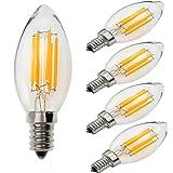 Yiun C35 E14 LED Bombillas para vela 6W, 60W Bombillas incandescentes Equivalente, 2700K,