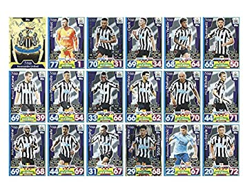 Verzamelkaarten: sport Voetbal MATCH ATTAX 2018/19 *NEWCASTLE UNITED  SET  FULL 18  CARD SET 18/19