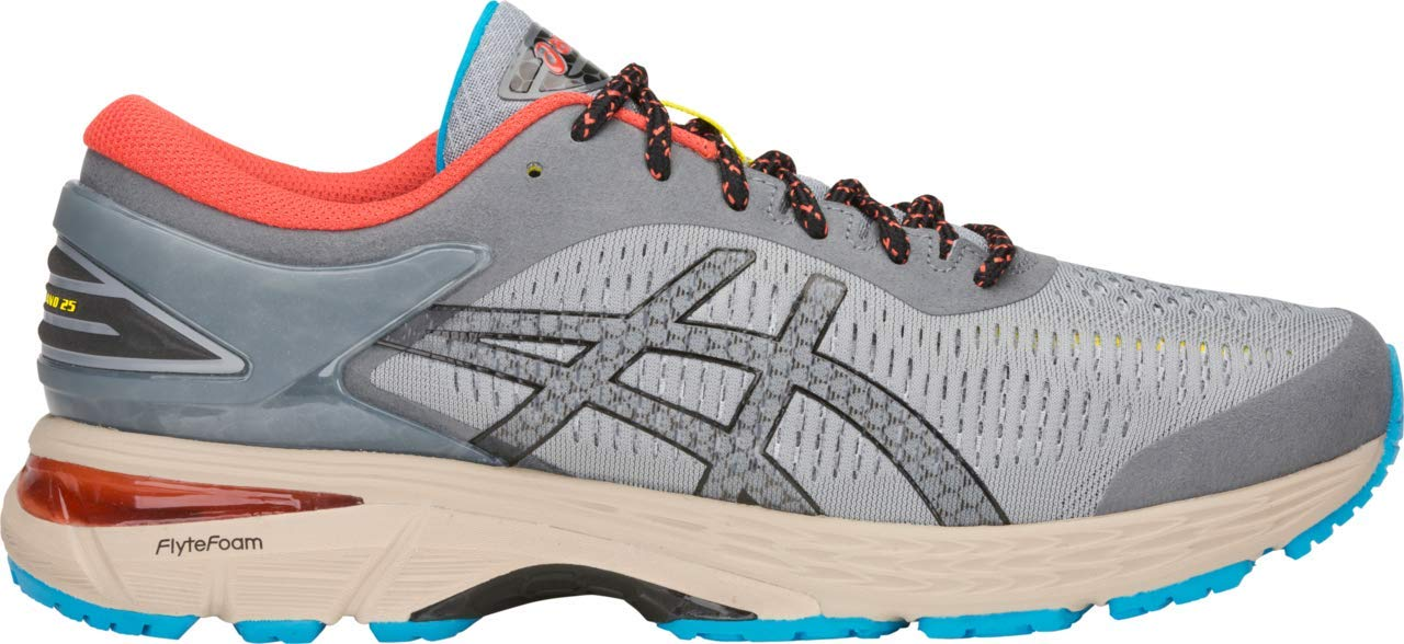 ASICS Gel-Kayano 25 Men's Running Shoe, Stone Grey/Black, 6 D US