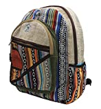 This beautifully designed large backpack is made from natural hemp fiber and natural heavy-duty cotton that are well known for their strength and durability. Inner lining has soft cotton material to make this bag sturdy and extra durable. This multi-...