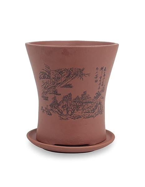 Amazon.com: Dahlia Mountain Home Zisha Succulent Planter/ Plant Pot ...