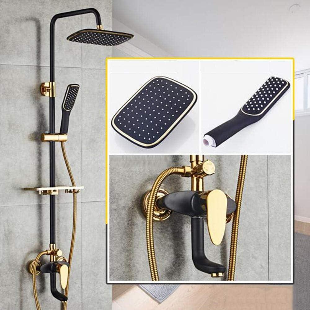 Continental - Juego de ducha de cobre negro y dorado para baño o ducha: Amazon.es: Bricolaje y herramientas