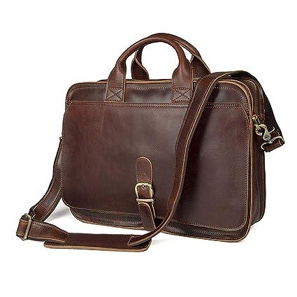 c51478f8d408 Amazon.com: Xiejuanjuan Laptop and Tablet Bag Mens Leather Handbag ...