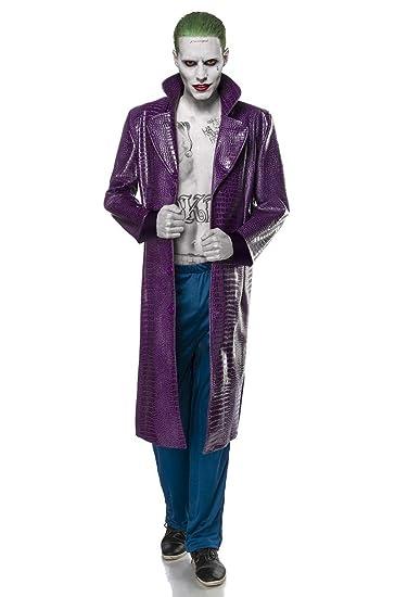 jokerkostum kostum joker halloween horror film fernsehen bosewicht gangster herren herrenkostum man 2 tlg karneval fasching amazon de spielzeug