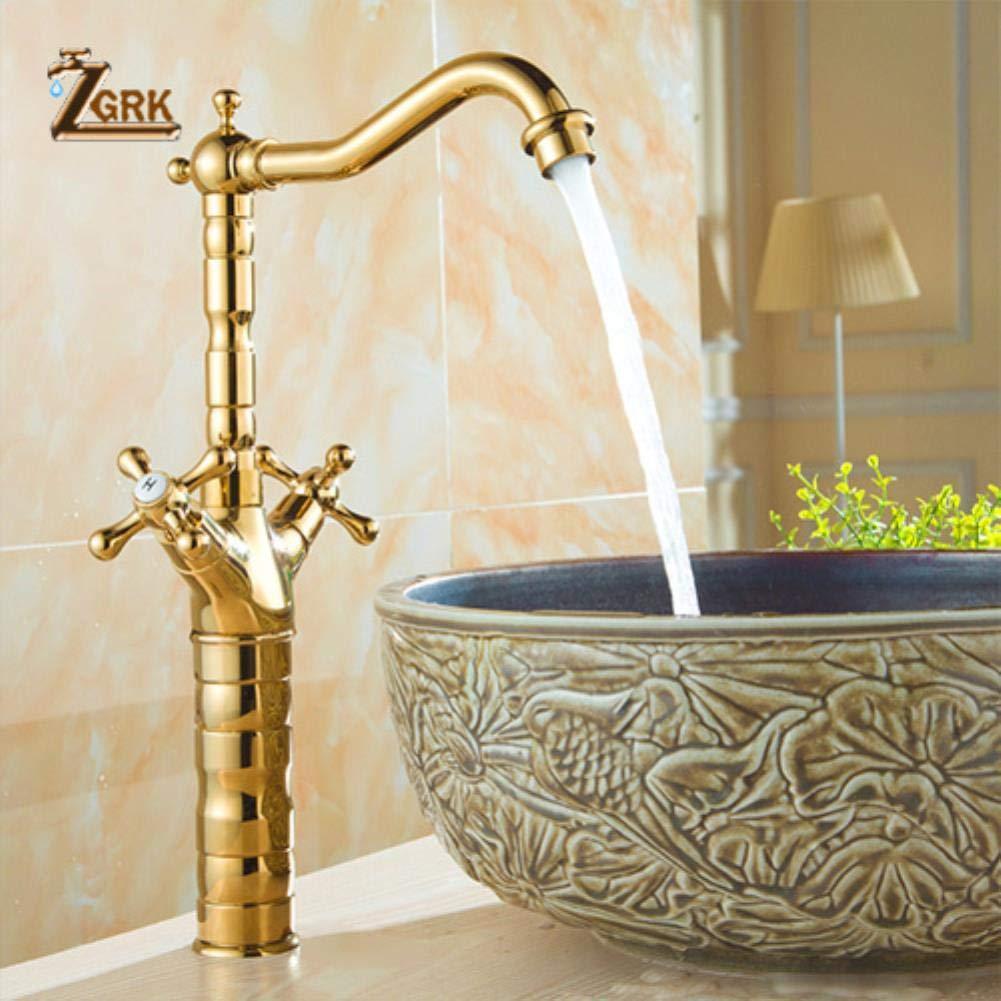 37.516cm ZGRK Vintage Antique Brass redary Single Level Single Hole Kitchen Sink Mixer Tap Bathroom Sink Mixer Taps bathroom furniture fitting A-209