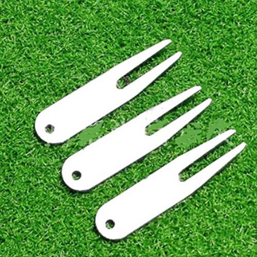 EDTara Golf Divot Tool Pitch Repair Switchblade Fork Golf Ball Marker Putting Green Golfer Kit