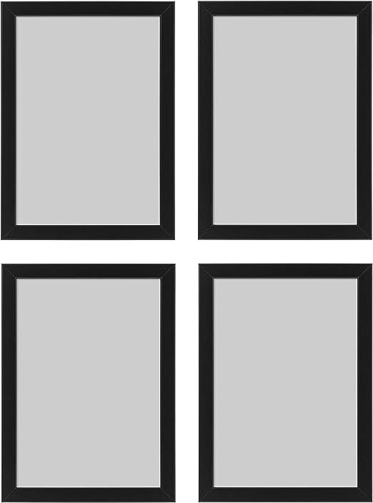 Ikea Marco de Fotos Fiskbo, A4, 21 x 30 cm, Negro, 4 Piezas