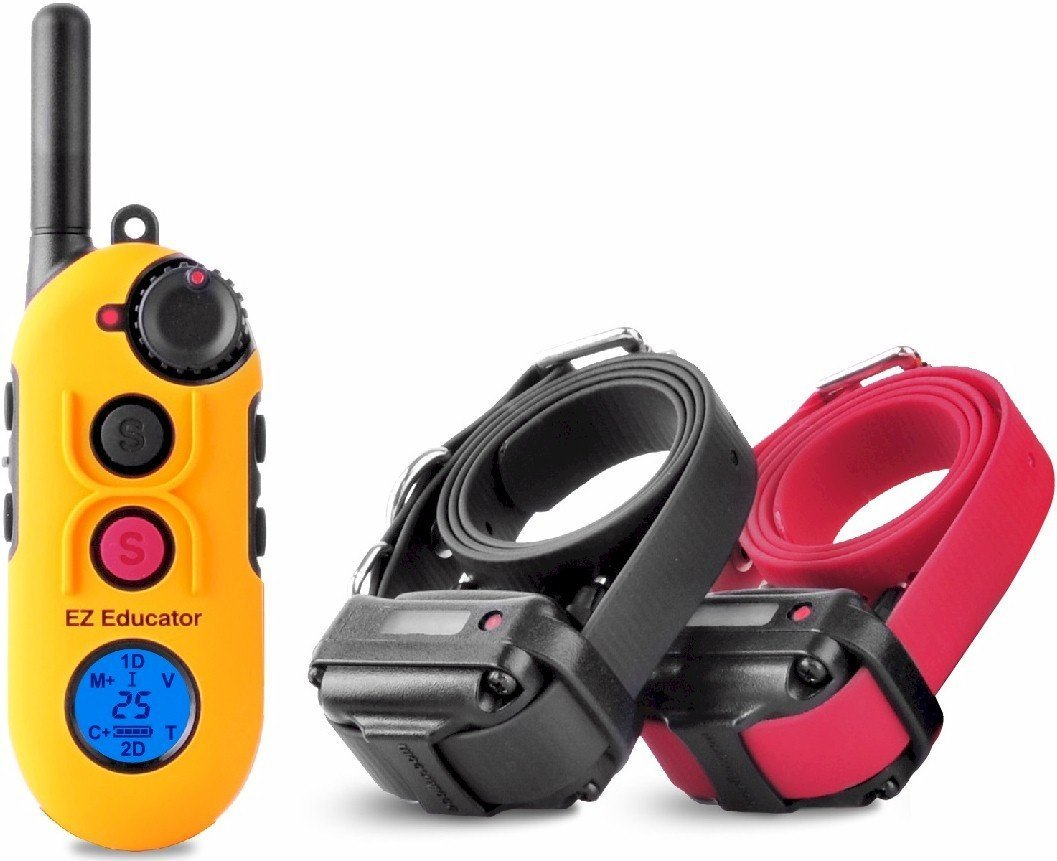 Easy Educator 1/2 Mile Two Dog Training System + FREE INCLUDED Bungee E-Collars by Educator by Educator