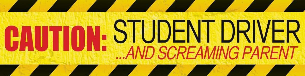 caution funny STUDENT DRIVER FREE SHIPPING!! bumper sticker