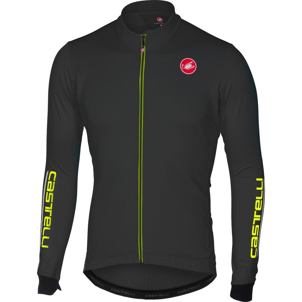 Castelli 2016 / 17メンズPuroフルZip長袖サイクリングジャージー – a16516 B074WKYSVH Medium|ライトブラック ライトブラック Medium