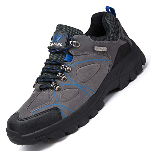 Zapatos Senderismo Hombre Botas De Montaña PU Cuero