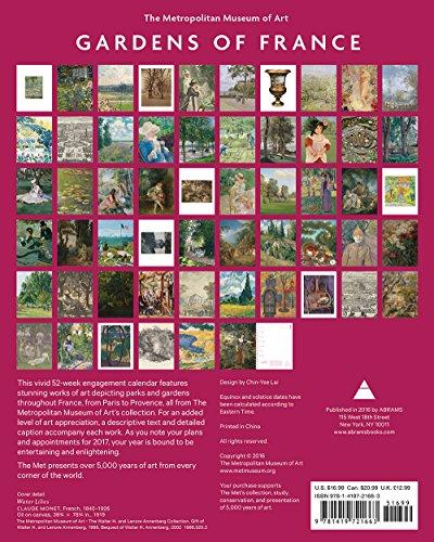 Calendar Metropolitan Museum Of Art : Gardens of france engagement book buy online in uae