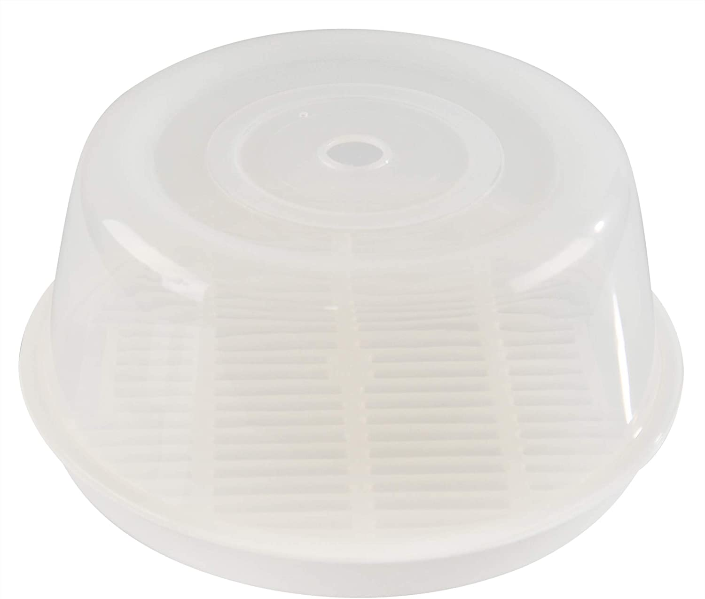 HOME-X Microwave Cooker Roast Pan, Large Microwave Dish with Lid, Microwave Tray Set, Microwave-Safe BPA-Free Plastic, 11