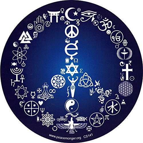 Coexist Peace Sign - Bumper Sticker / Decal (5