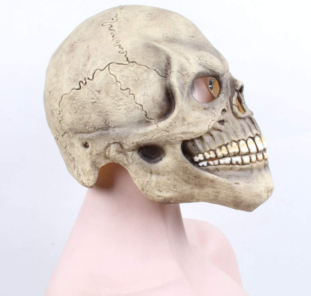 Angmile Halloween Skull Latex Mask Scary Party Dress Up Props Halloween Masquerade Costume