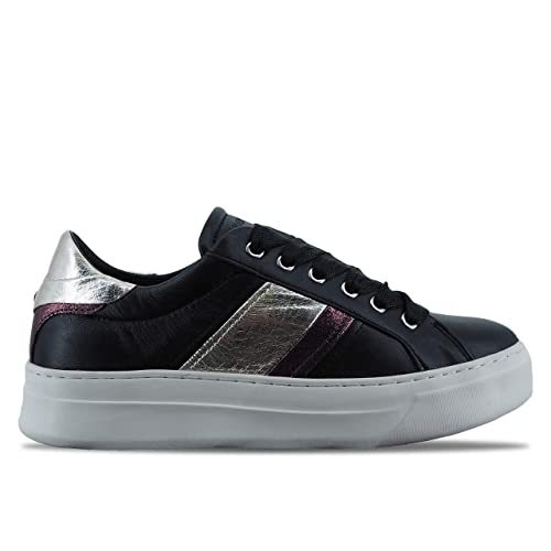 1b6da44ff8 Crime London | Scarpe Sneaker da Donna SONIK in Pelle Nero ...