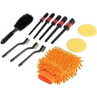 Homyl Conjunto de 12 peças de kit de escova para detalhes automotivos, escova para pneu com rodas automotivas, uso…