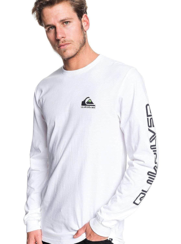 Quiksilver Mens Omni Logo Long Sleeve Screen Tee