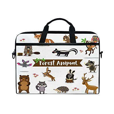 AHOMY Forest Animals Monkey Owl 15 Inch Laptop Shoulder Sleeve Messenger Bag Case