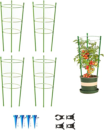 Large 30 H 3 Pack Tomato Plant Support Garden Cage for Vegetables Climbing Plants Cucumbers Peony