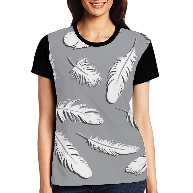 b961b7cab Amazon.com: BLACKY Solar System Printed T Shirts Casual Tops Short Sleeve  Tee for Women: Clothing