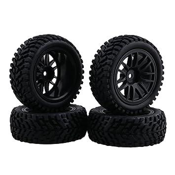 Neumáticos de neumáticos negros de goma del borde de la rueda de 1:10 para