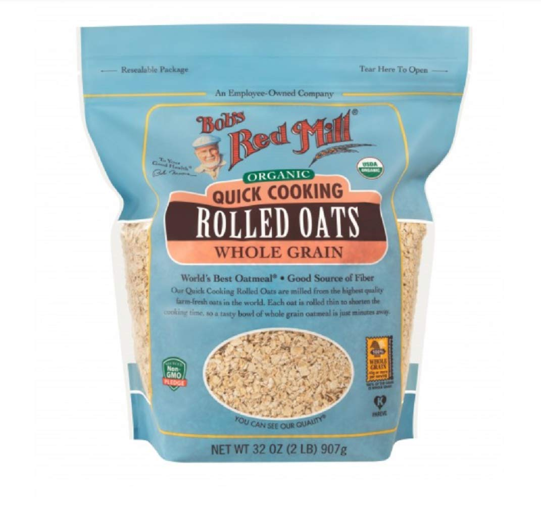 Bob's Red Mill Gluten Free Organic Quick Cooking Rolled Oats, 32 Oz (4 Pack) by Bob's Red Mill