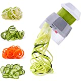 Handheld Spiralizer Vegetable Slicer Nurch 4 in 1 Veggie Spiral Cutter Zucchini Noodle Maker Spaghetti Maker Spiral…