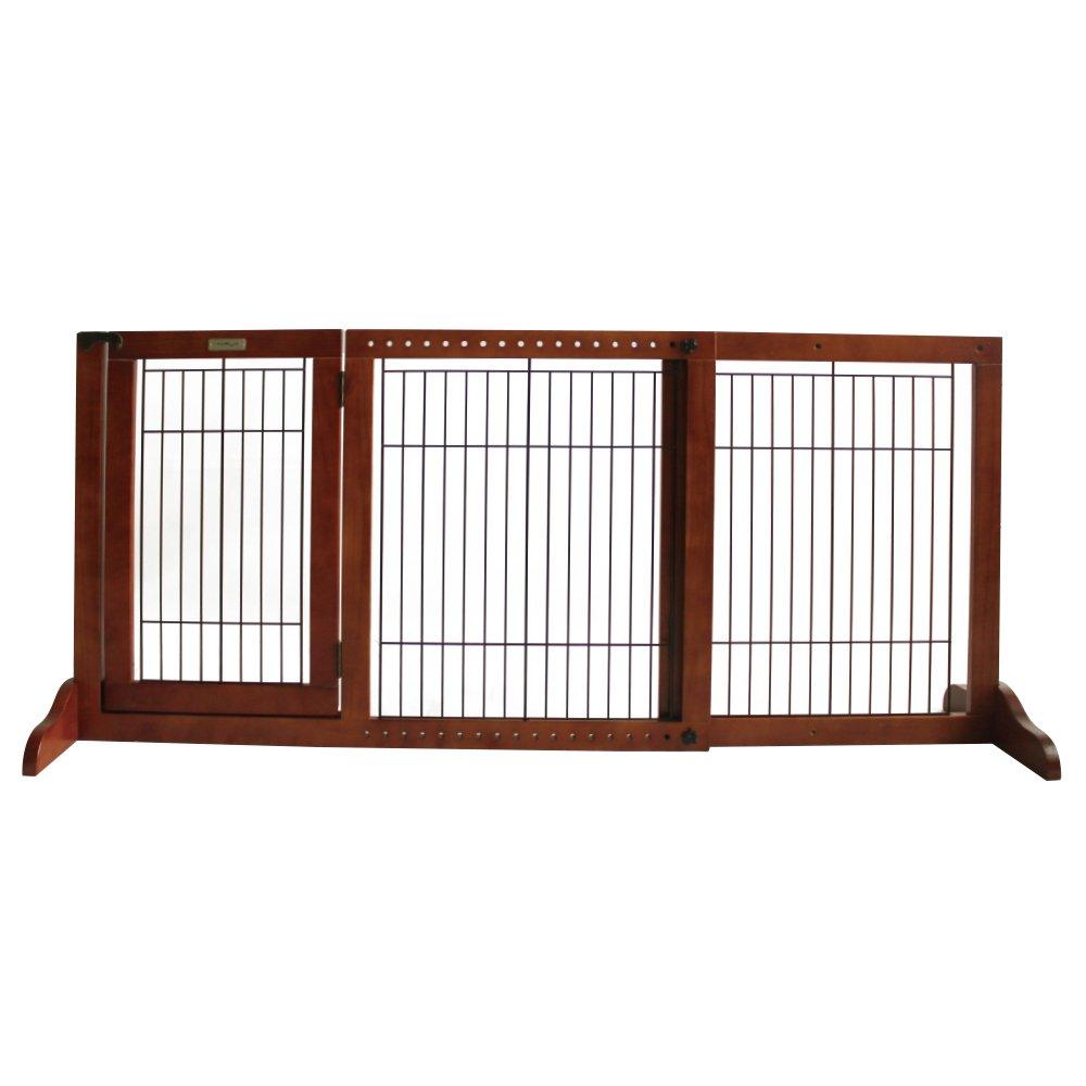 Simply Shield+ | Hunde-Barriere | Hunde-Absperrgitter | Verstellbare Breite mit Tür