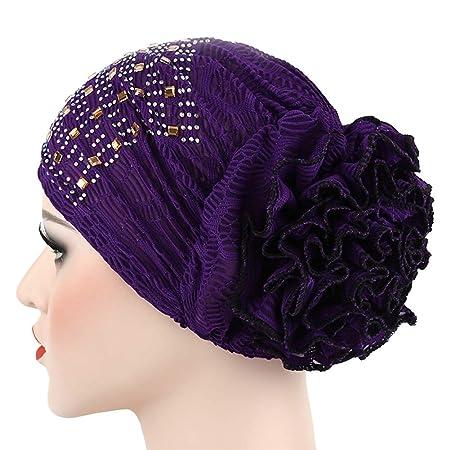 Tukistore Frauen Chemo Hut Baumwolle Kopfbedeckung M/ützen Weich Muslimische Kopftuch Bandana Headscarf f/ür Chemo Krebs Haarverlust