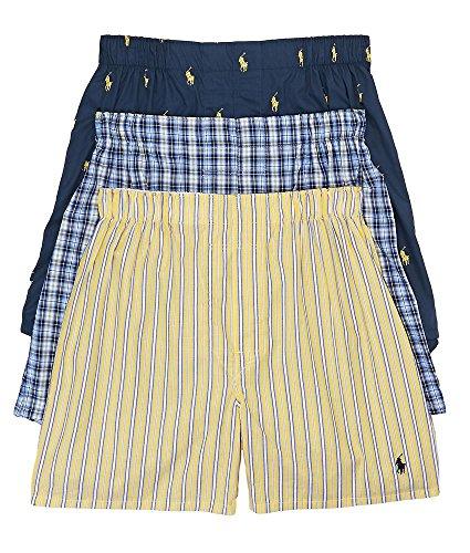 Polo Ralph Lauren Classic Woven Boxer 3-Pack Large (Lauren Shorts Ralph Boxer)