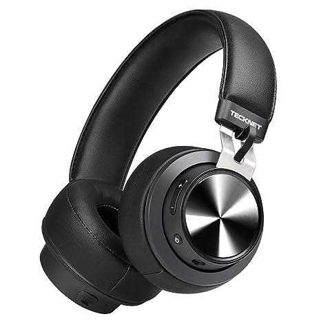 TeckNet Auriculares Bluetooth, Cable de Audio de 3,5 mm, Auriculares Estéreo Inalámbricos
