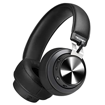 ab484482aae TeckNet Bluetooth Headphones, Wireless Over Ear Hi-Fi Stereo Headset  Earphones With Noise Cancelling
