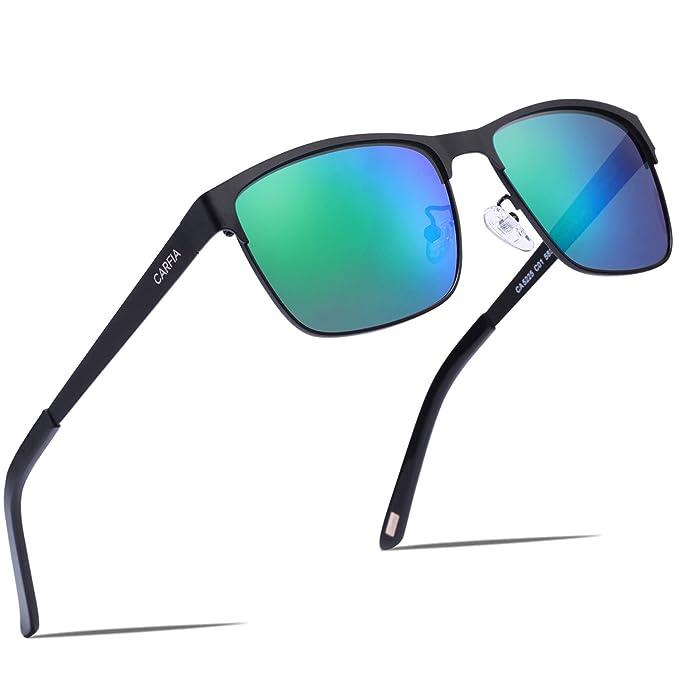 Carfia Polarizadas Gafas de Sol Hombre Mujer Protección UV400 para Conducir