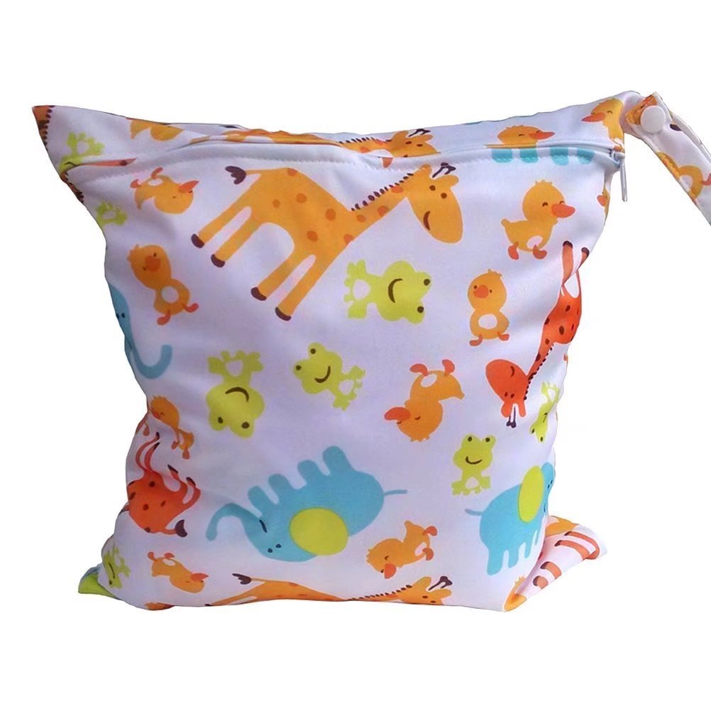 Baby Waterproof Zipper Bag Washable Reusable Baby Cloth Diaper Bag RICISUNG