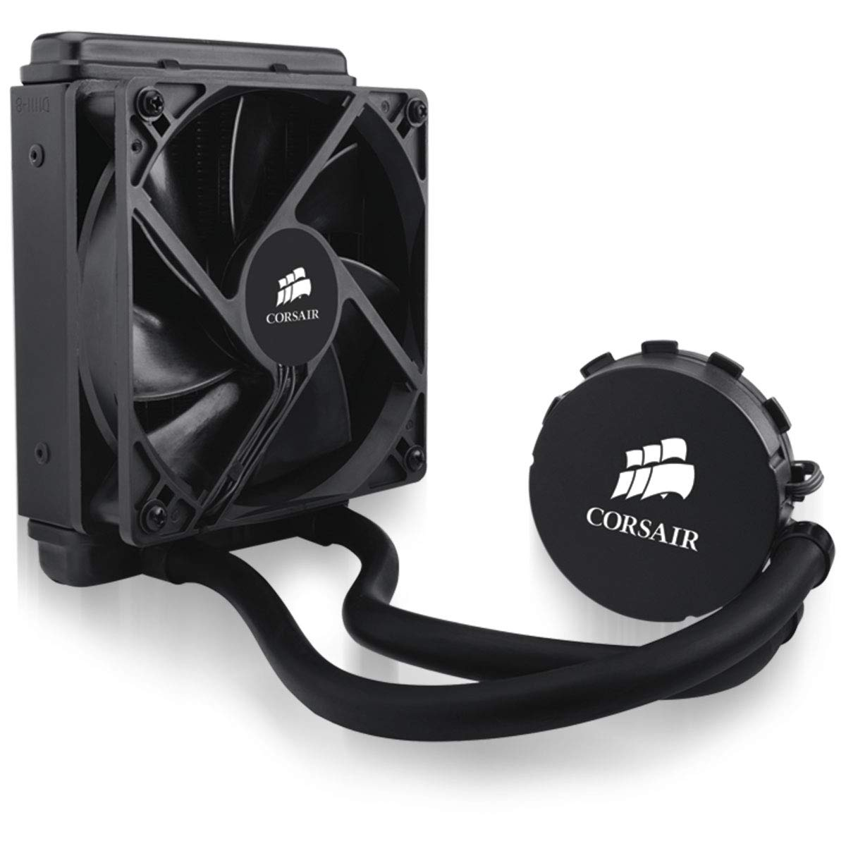 CORSAIR Hydro Series H55 AIO Liquid CPU Cooler, 120mm Radiator, 120mm Fan