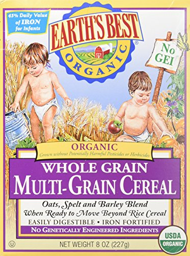 Earth's Best Baby Cereal - Multi Grain - 8 Oz - 2 Pk (Earth Best Organic Cereal)