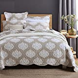 Quilt Set King, Cotton World Li Premium 3 Piece Oversized Coverlet Set as Bedspread Bed Cover Reversible Luxury Light Weight - Wrinkle & Fade Resistant-King/California King