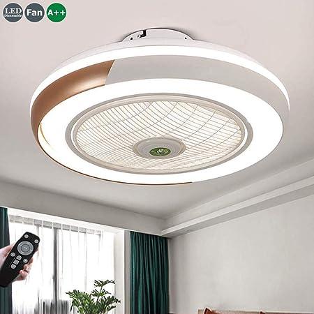Ventilador De Techo 60W LED Lámpara Creative Regulable